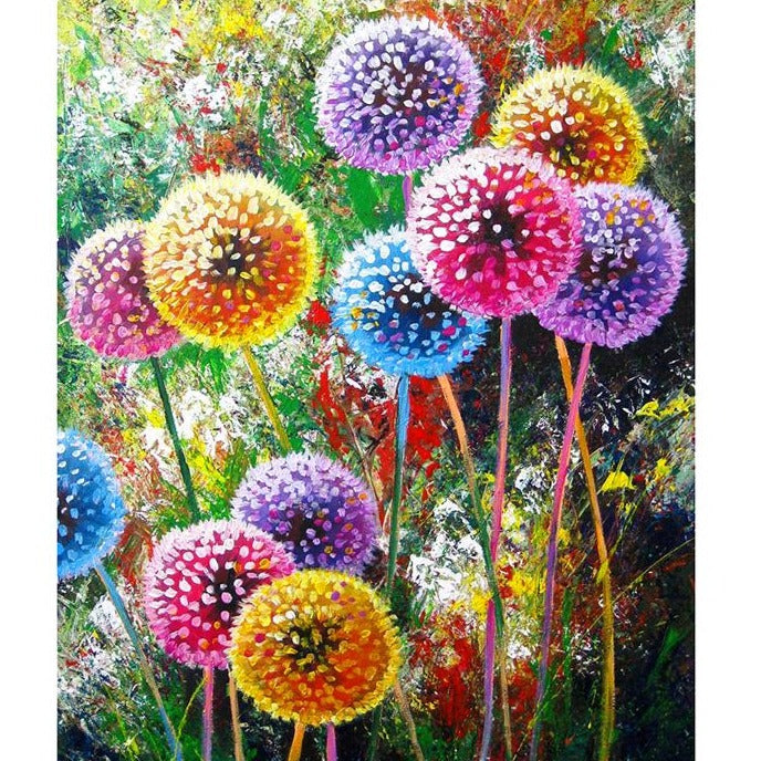 Colored dandelion 5D DIY Diamond Painting