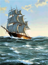 Load image into Gallery viewer, DIY Diamond Painting Sailboat Diamond Embroidery - TuneUpTrends.com