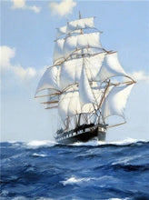 Load image into Gallery viewer, DIY Diamond Painting Sailboat Diamond Embroidery