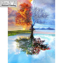 Load image into Gallery viewer, 5D diamond painting kits cross-stitch Season Trees - TuneUpTrends.com