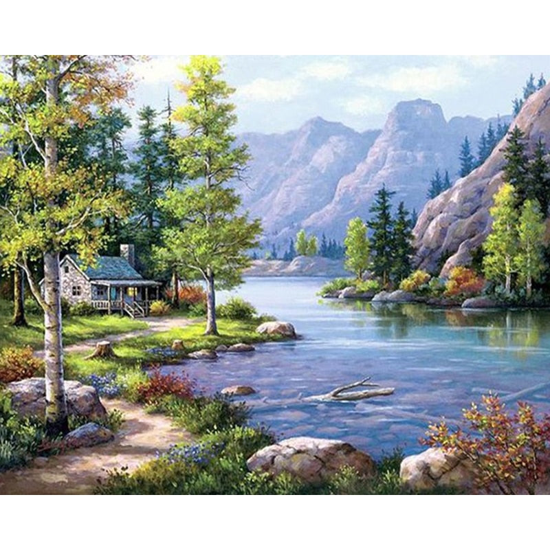 Landscape Scenery  Diamond Painting Full Square