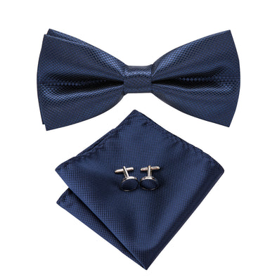 Midnight Blue Bow Tie Set