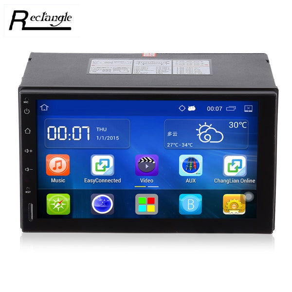 Android 5.1 Car Radio Stereo 7'Touch Screen Car DVD Player GPS Navigation Bluetooth USB SD Steering Wheel Control