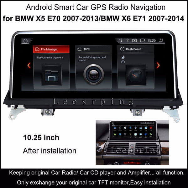 "10.25""Touch Android Car Raido GPS for BMW X5 E70 (2007-2013)/BMW X6 E71(2007-2014) Intelligence Car Multimedia Player"