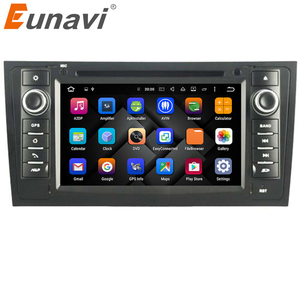 "Eunavi 7"" Quad Core Android 7.1 Car DVD player for Audi A6 1997-2004 & Audi S6 1997-2004 & Audi RS6 1997-2004 with 1024*600 Res"