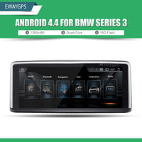 "10.25"" Quad Core Android 4.4 Vehicle multimedia player For BMW Series 3 F30 Bluetooth gps navigation Wifi Steering Wheel EW960A"