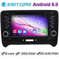 "7"" 2 din 8 Core Octa Core Pure Android 6.0 Car DVD Player For Audi TT 2006 2007 2008 2009 2010 2011 2012 2013 Car with WiFi BT"