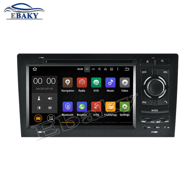 NaviTopia 7inch Quad Core Android 5.1.1 Car DVD Radio For Audi A8/S8 1994 1995 1996 1997 1998 1999 2000 2001 2002 2003 with GPS