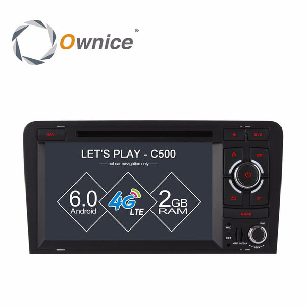 1024X600 Octa 8 Core 2GB RAM Android 6.0 4G SIM LTE Wifi Car DVD Player for AUDI A3 2002-2011 GPS Navigation Radio Stereo System