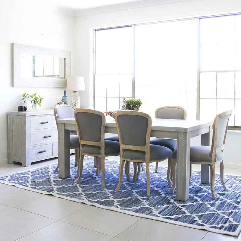Sugarcane Trading Co Rug Coastal Beach Dining Room
