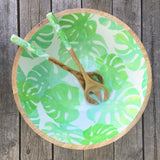 Green Palm Salad Server