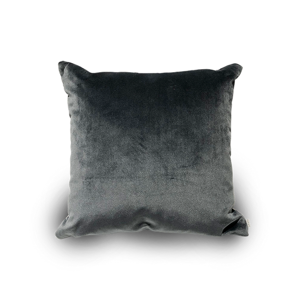 Square Velvet Charcoal Scatter Cushion