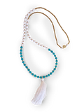 Paper Bead Tassel Mala Necklace