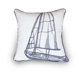 Embroidered Yacht Scatter Cushion