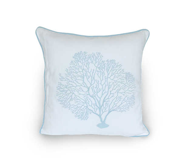 Embroidered Large Sea Fan Scatter Cushion
