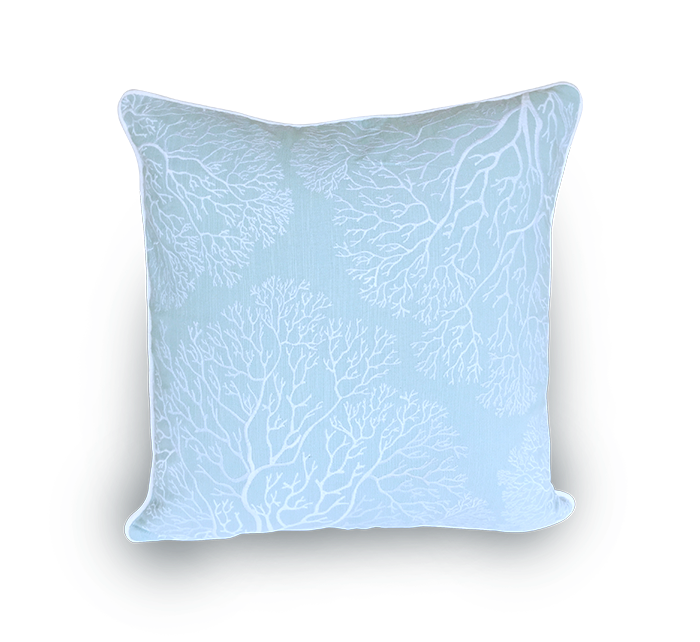 Embroidered Sea Fans Scatter Cushion
