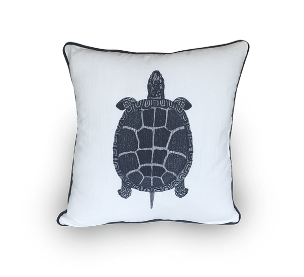 Embroidered Turtle Scatter Cushion
