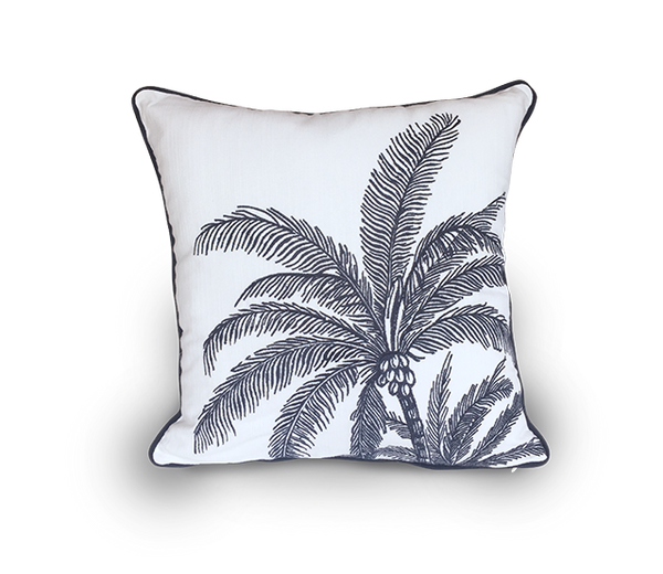 Embroidered Palm Tree Scatter Cushion