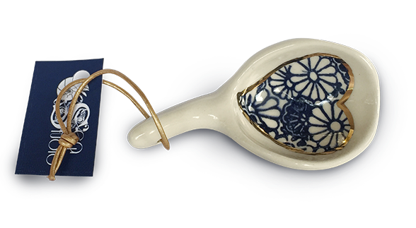 Pottery Granola Scoop with 22k Gold Lustre
