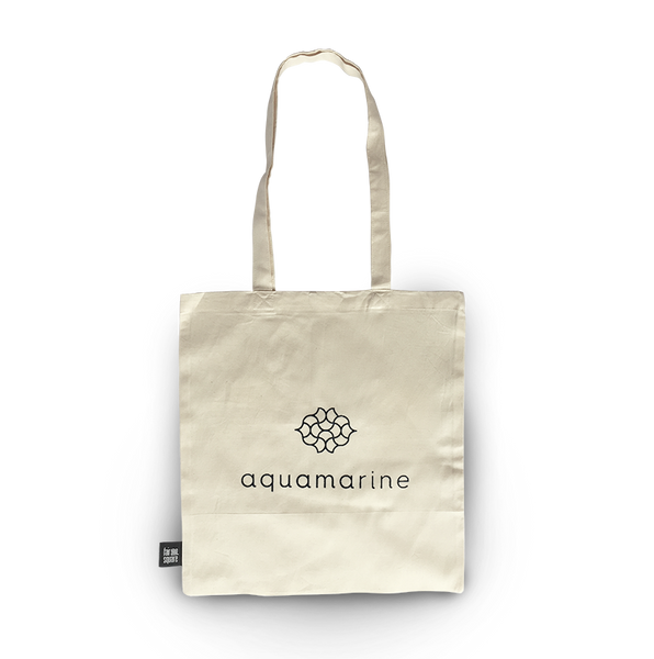 Aquamarine Organic Cotton Tote Bag