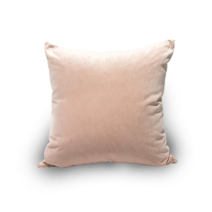 Square Velvet Blush Pink Scatter Cushion