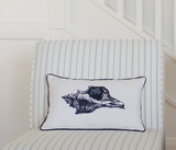 Embroidered Shell Oblong Scatter Cushion