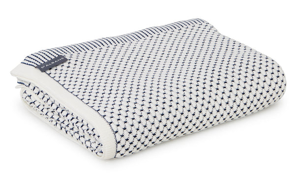 Blue & White Cotton Throw Blanket