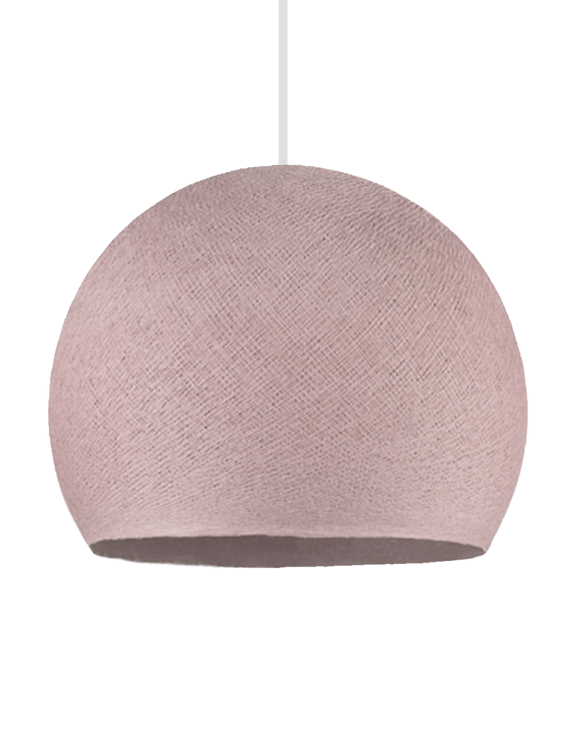 Hand Made Yarn Demi Pendant Lamp Shade - Dusty Pink