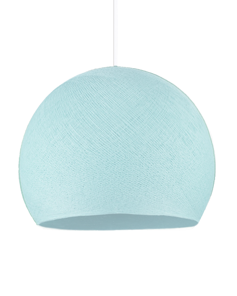 Hand Made Yarn Demi Pendant Lamp Shade - Aqua