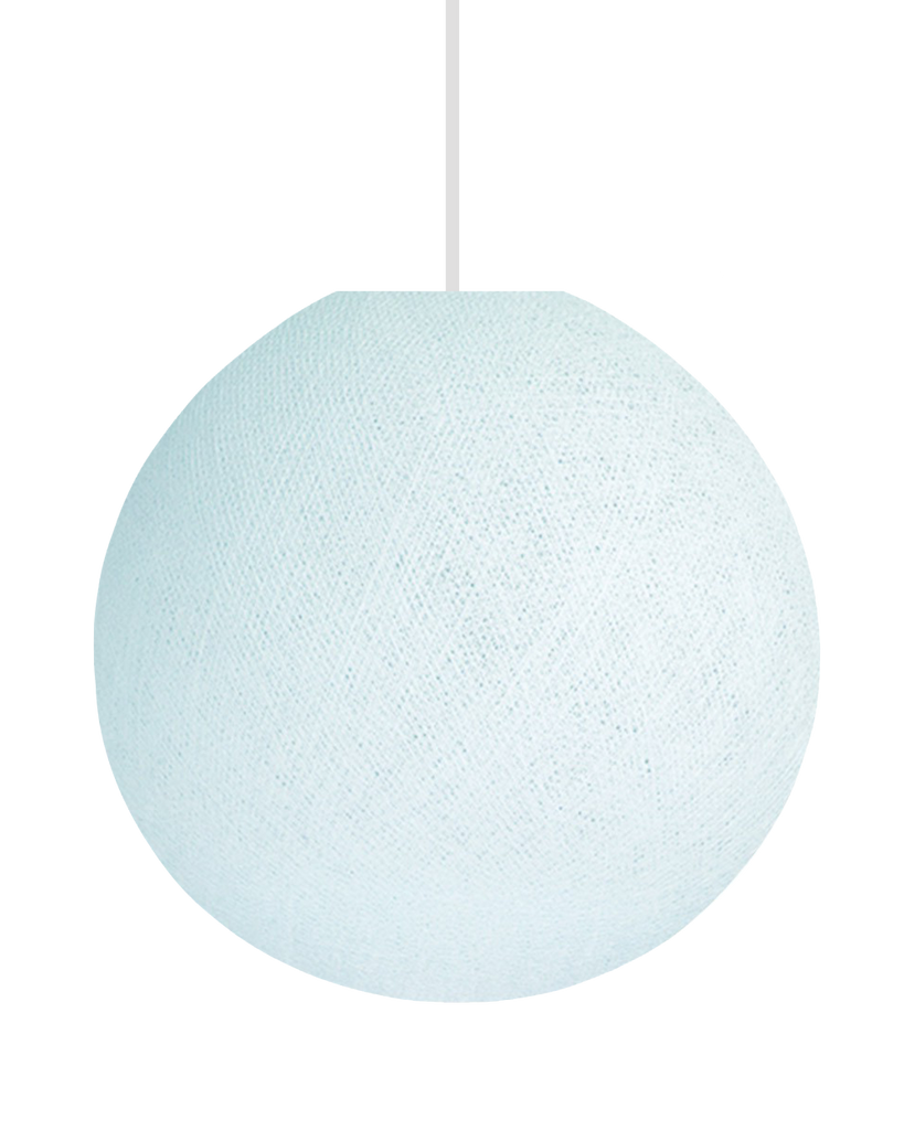 Hand Made Yarn Round Lamp Shade - Pale Aqua