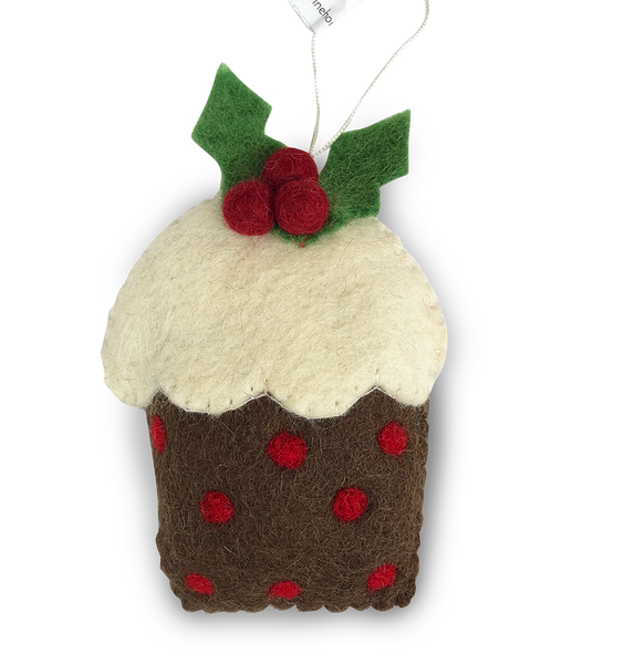 Pudding Felt Christmas Decorations