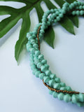 Aqua Paper Bead Twist Necklace