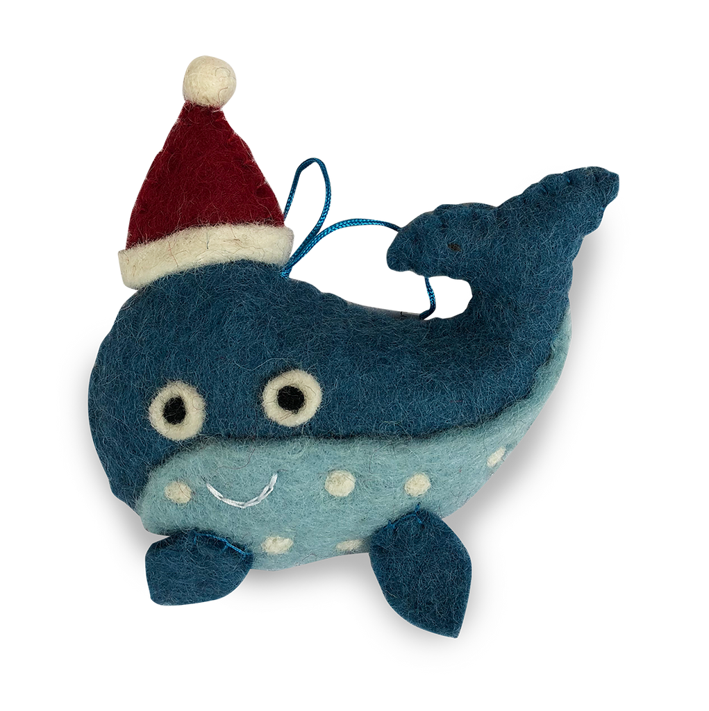 Whale Felt Christmas Decorations