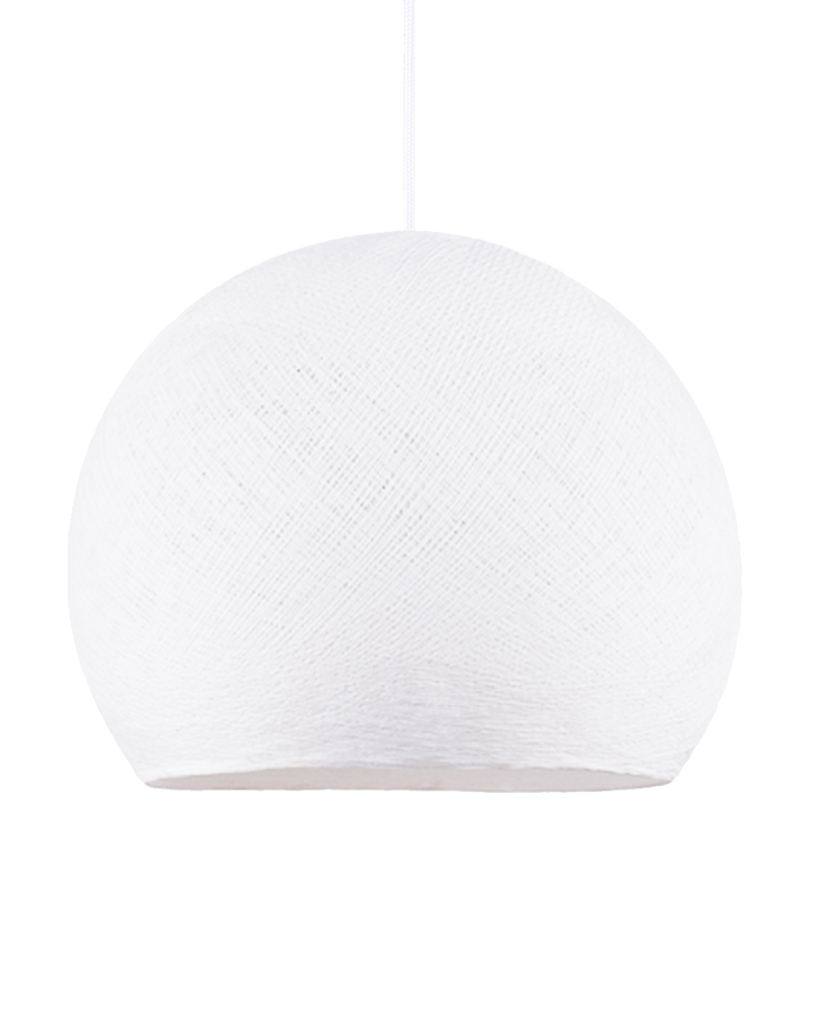 Hand Made Yarn Demi Pendant Lamp Shade - White