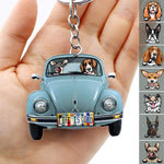 Classic Car Dog Breeds Custom Acrylic Keychain, Dog Lover Gift, For Campers Keychain