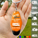 Quote Camping Keychain, Camping Gift, Custom Rv Camping