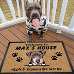 Welcome To Dog House Doormat, Dog Lover Gift, Non-slip Mats, Funny Doormat