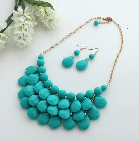 36 Sets Bubble Bib Chain Statement Necklace