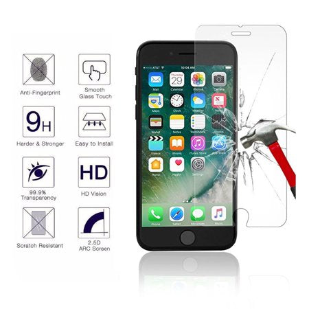 100 X Iphone 8 Plus 9H Screen Protectors with Package