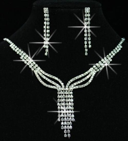 24  Sets of Wedding Bridal Czech Crystal Diamond Necklace Sets