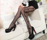 120 X Ladies Pantyhose with flower pattern