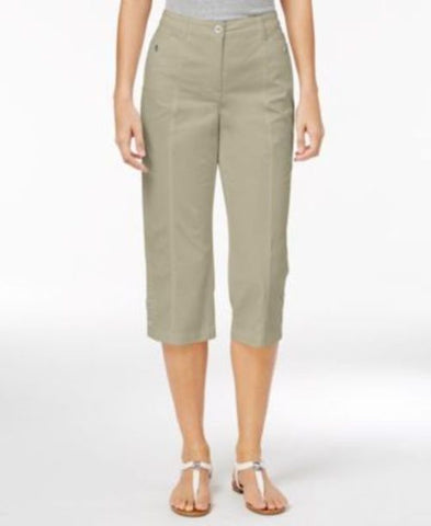 Karen Scott Cropped Button-Hem Pants #289 size 16