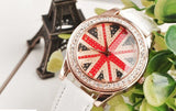 30 X Crystal Surrounding England Flag Style Watch