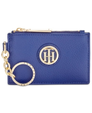 Tommy Hilfiger Lucky Charm Pebble Leather ID Cobalt