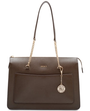 DKNY Bryant Top-Zip Medium Tote Brown