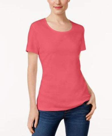 Karen Scott Scoop-Neck T-Shirt #307 size L