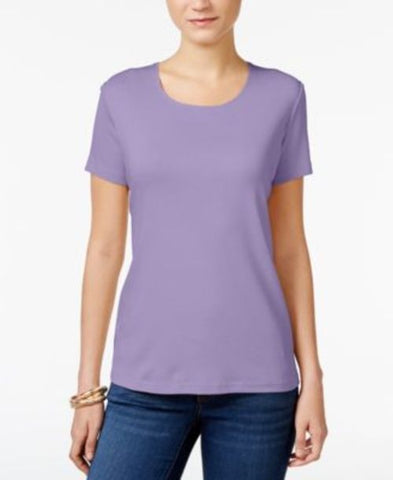 Karen Scott Scoop-Neck T-Shirt #312 size S