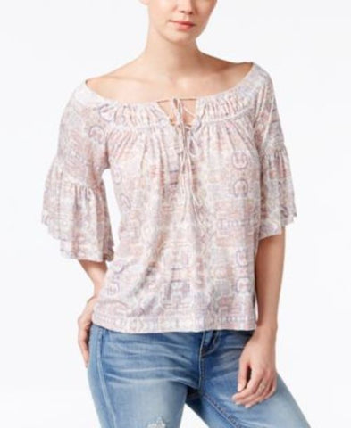 William Rast Gigi Off-The-Shoulder Peasant Top #107 size L