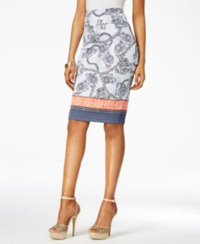 Thalia Sodi Mixed-Print Scuba Pencil Skirt #431 size M