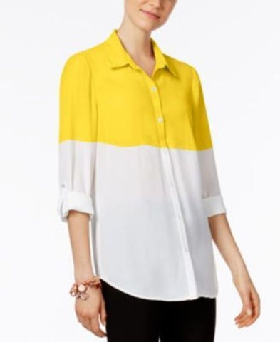 Ny Collection Colorblocked Shirt #258 size S